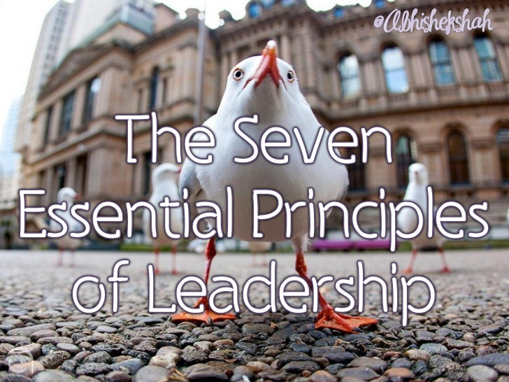 The Seven Essential Principles of Leadership