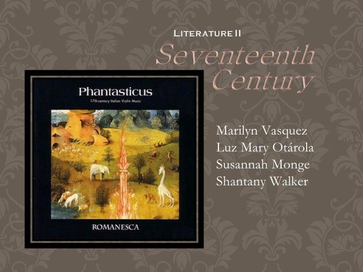 The seventeenth century listo
