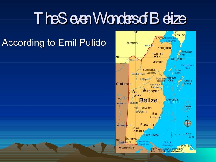 Emil Pulido on The Seven Wonders Of Belize
