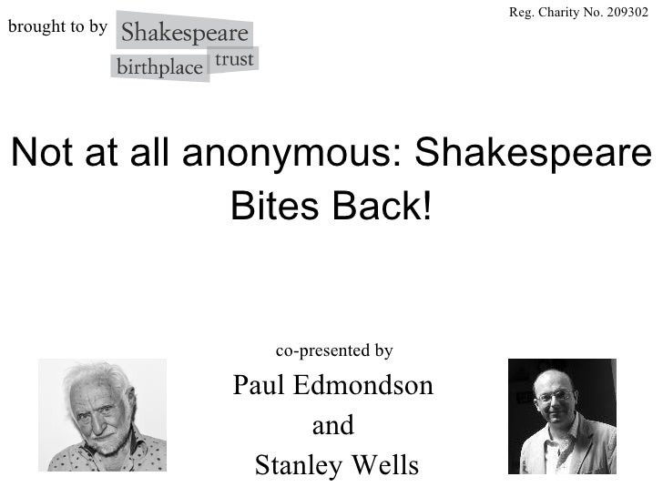 Shakespeare Authorship
