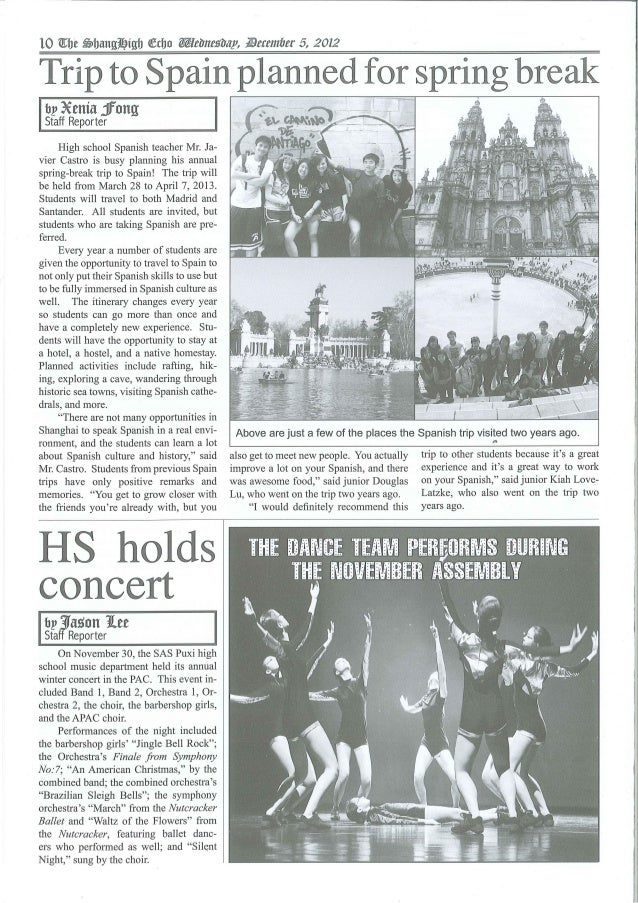 The ShangHigh Echo - Wednesday December 5 2012 - Page 10