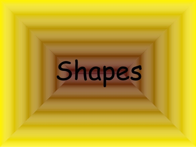 Shapes  - An Introduction for Lower Elementary