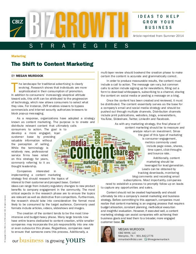 The Shift to Content Marketing