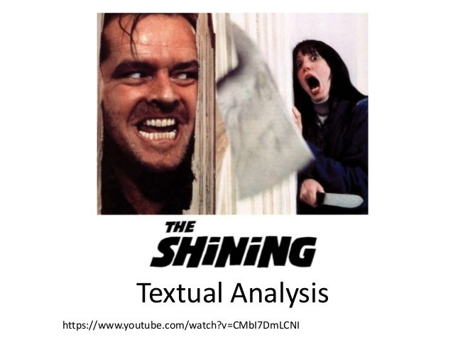 analysis of the shining If the news of a prequel to the shining moving forward is getting you down, today brings a fine remedy after stanley kubrick's daughter vivian brought us.