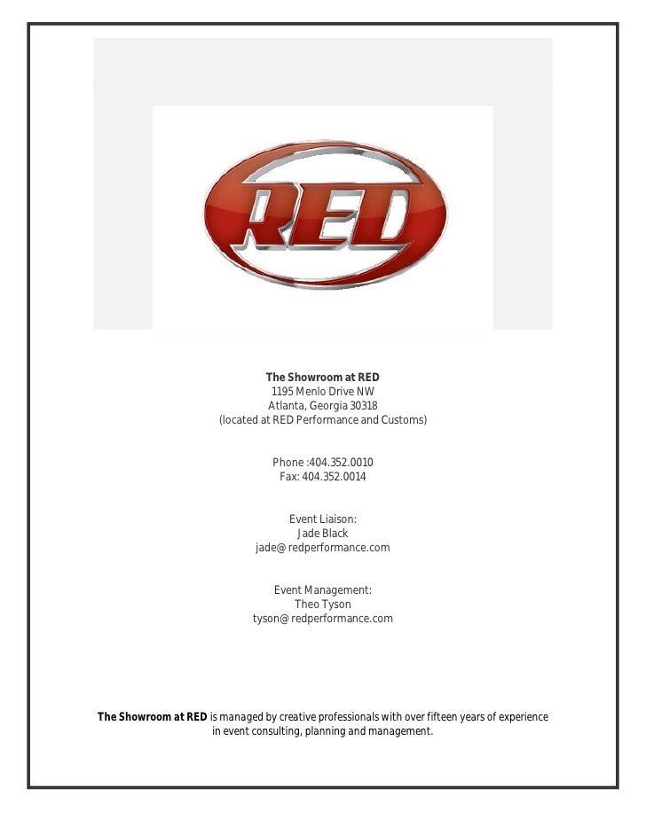The Showroom at RED                                     1195 Menlo Drive NW                                    Atlanta, Ge...