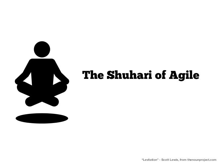 "The Shuhari of Agile          ""Levitation"" - Scott Lewis, from thenounproject.com"