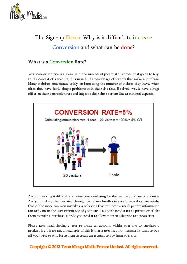 The Sign-up Fiasco. Why is it Difficult to Increase Conversion and What can be Done?