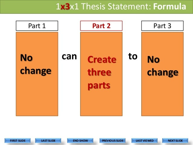 formula for creating a good thesis statement A good thesis statement should capture all of these essential details in just one or two sentences the thesis statement generally appears after a brief introduction of your topic, often as the last sentence of your first paragraph.
