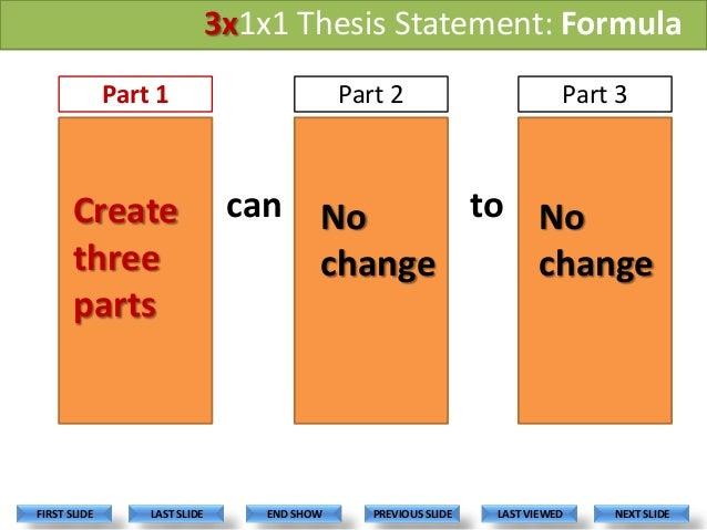 Thesis statement formula