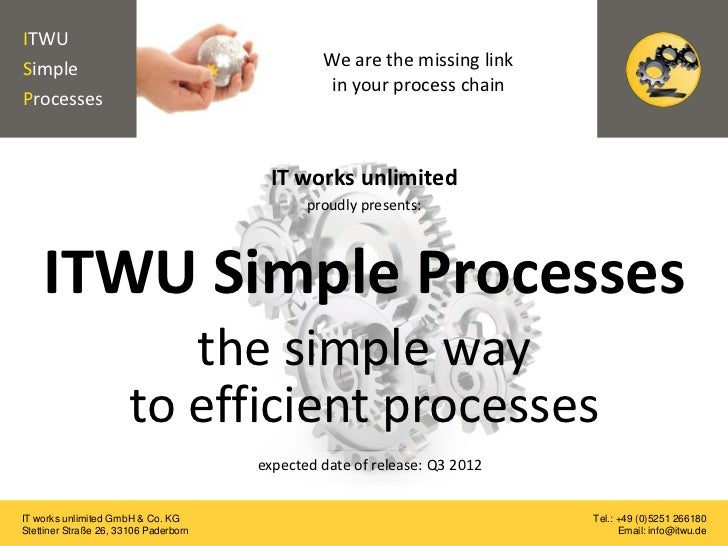 The simple way to efficient processes