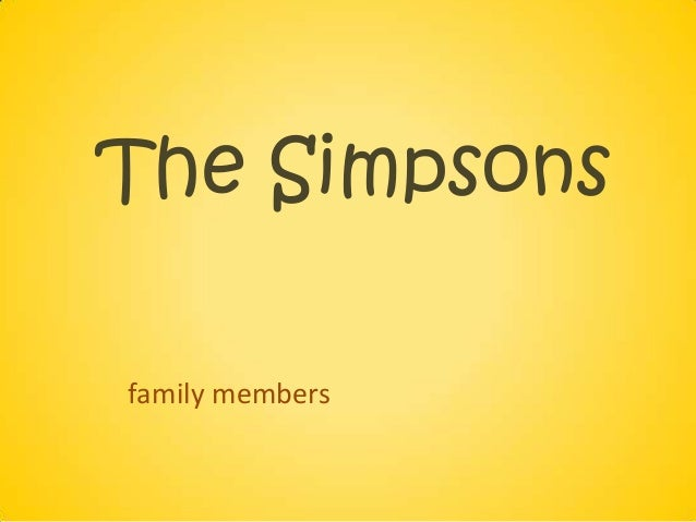 The Simpsonsfamily members