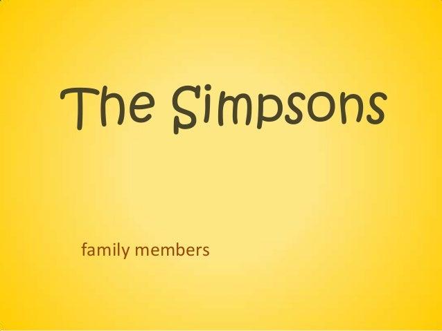 The Simpsonsfamily members