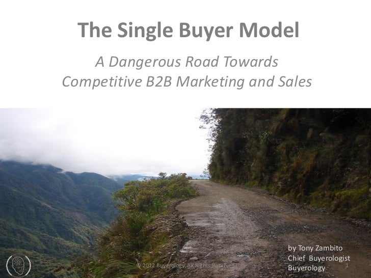 The Single Buyer Model   A Dangerous Road TowardsCompetitive B2B Marketing and Sales                                      ...