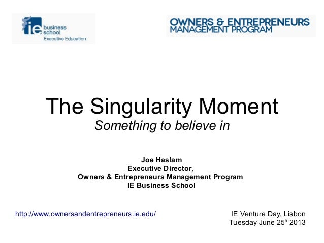 The Singularity Moment - Something to believe in