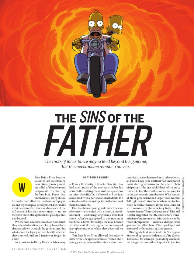 THE SINS OF THE  FATHER hen Brian Dias became a father last October, he was, like any new parent, mindful of the enormous ...