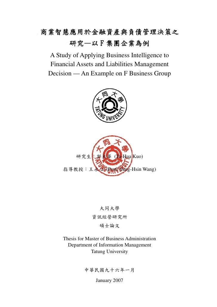 Thesis business intelligence pdf