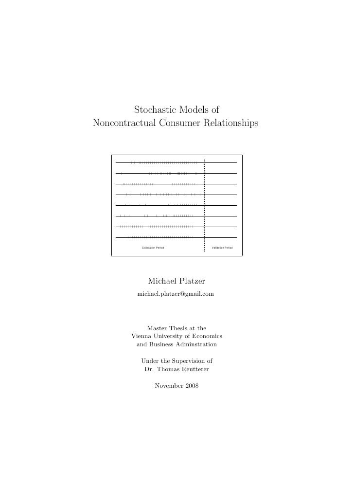 Stochastic Models of Noncontractual Consumer Relationships                                  | |   || | | | | | | | | | | |...