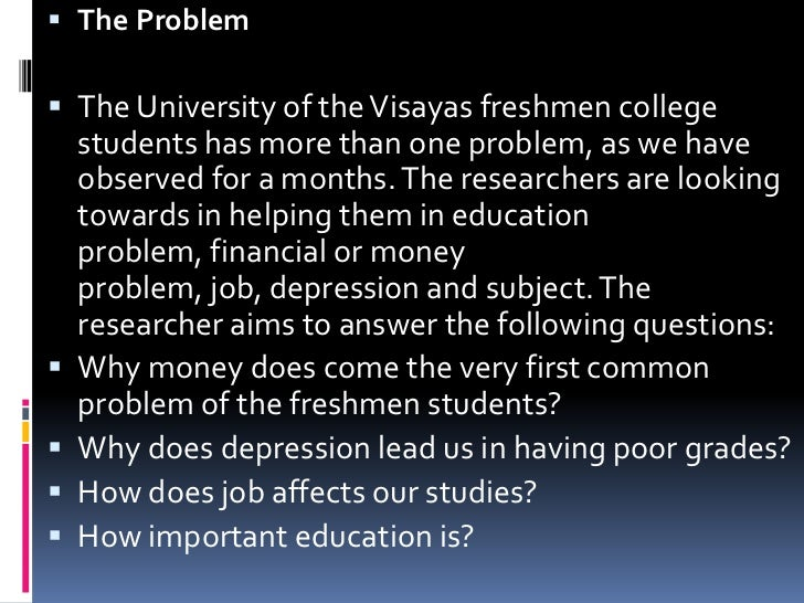 the problem with finance essay