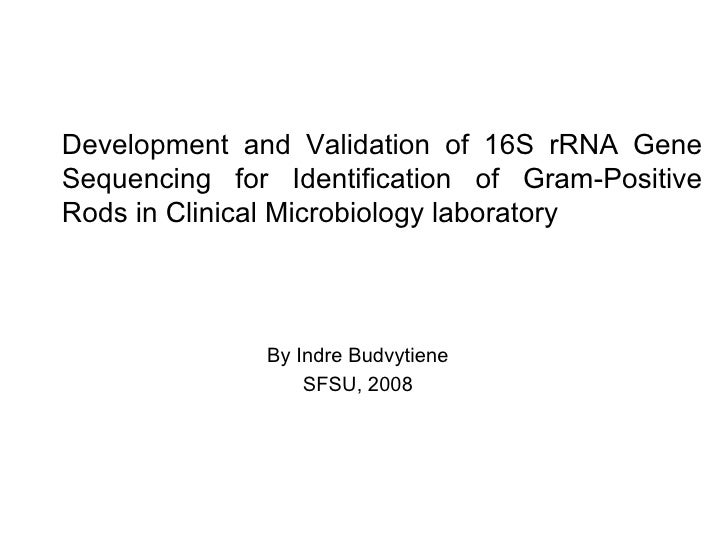Development and Validation of 16S rRNA Gene Sequencing for Identification of Gram-Positive Rods in Clinical Microbiology l...