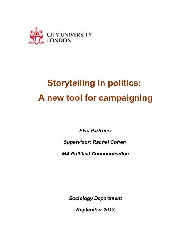 Storytelling in politics