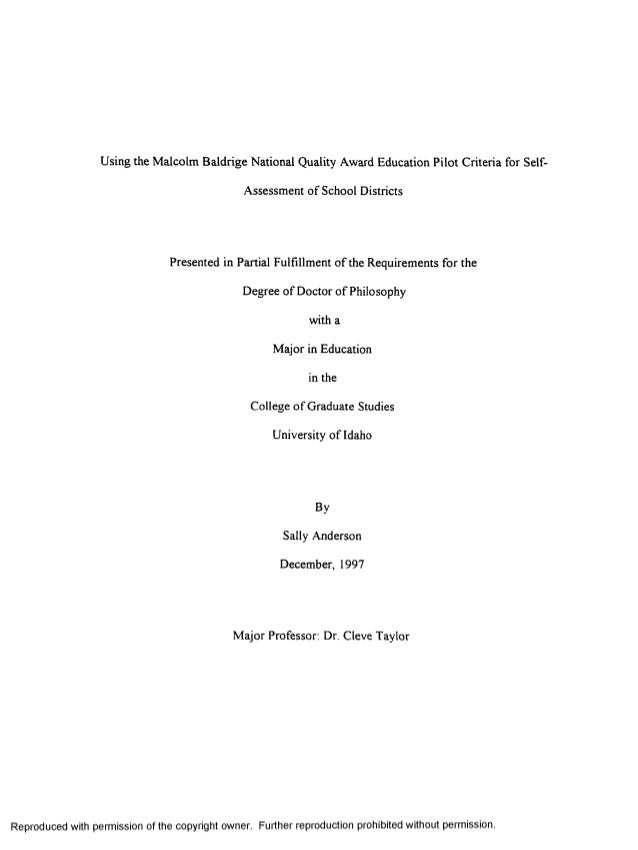 Masters in medical education thesis