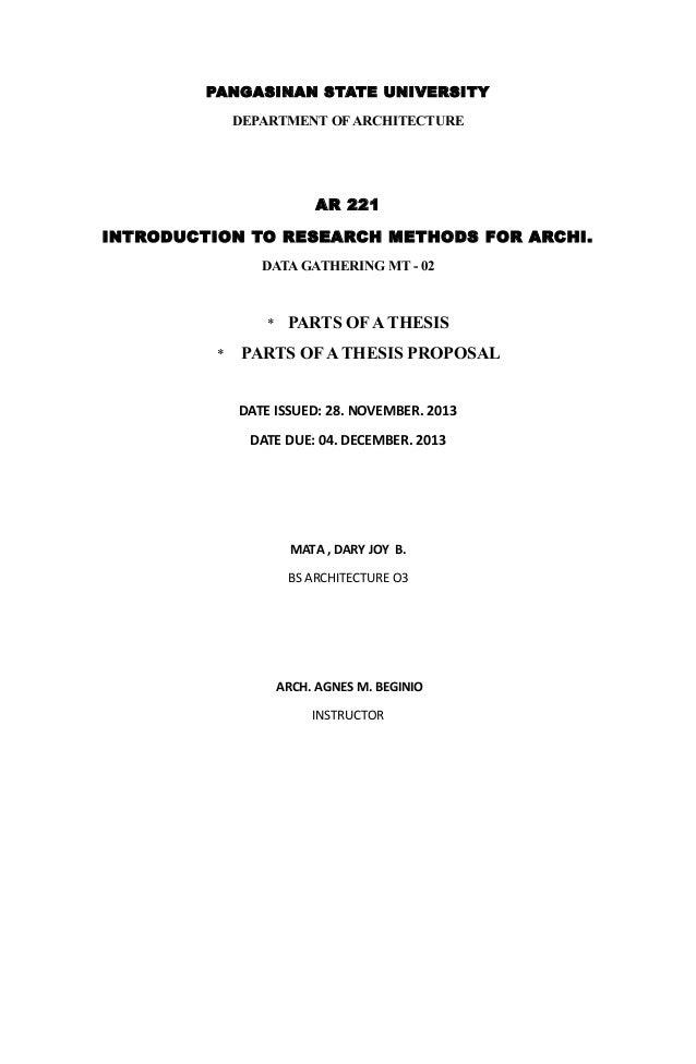 Bachelor thesis proposal