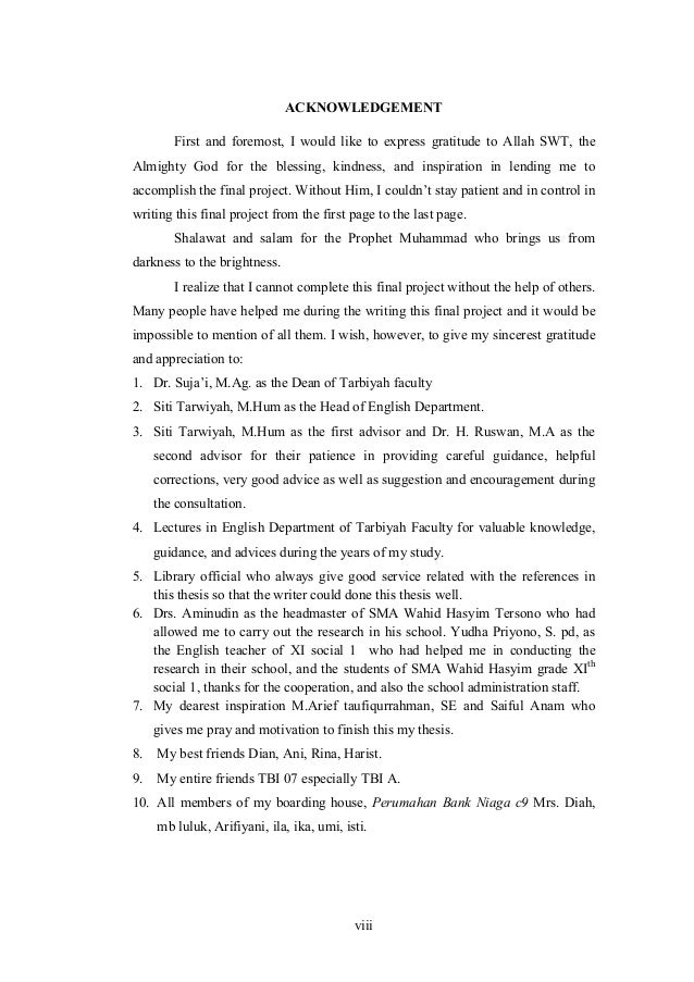 Acknowledgements dissertation god