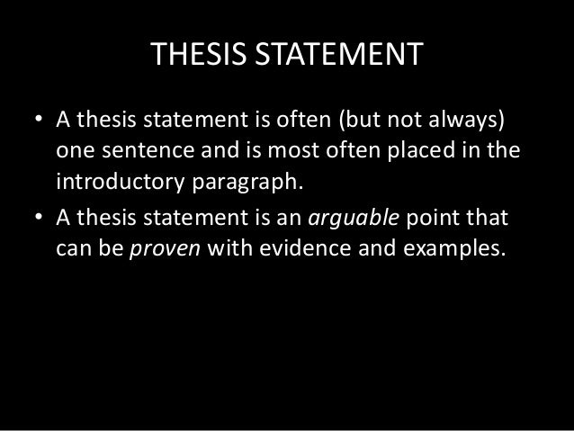 Thesis statement inthe topic tv commercials