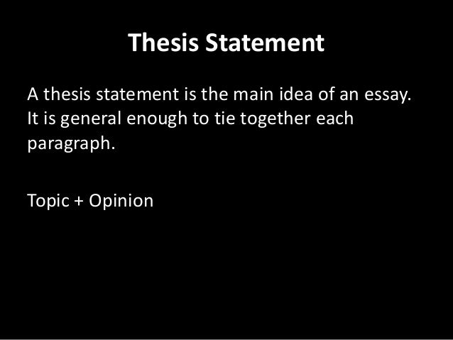 Concrete thesis statement