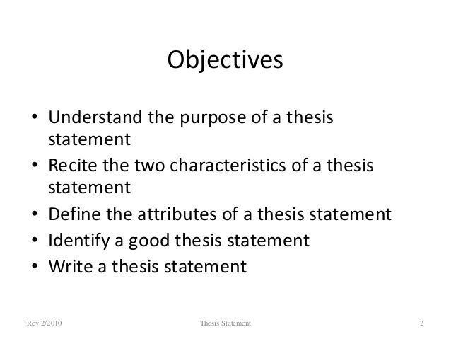 Definition Thesis Statement in Essay
