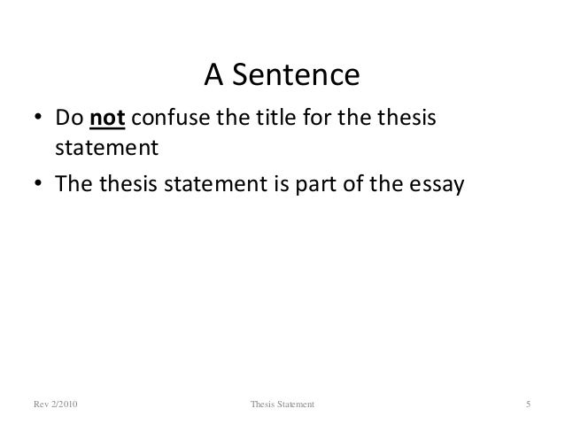 can my thesis statement be more than one sentence This handout describes what a thesis statement is, how thesis statements work in your writing, and how you can craft or refine one for your draft introduction writing in college often takes.