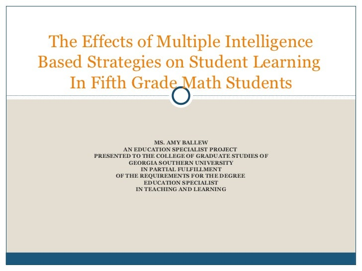 MS. AMY BALLEW AN EDUCATION SPECIALIST PROJECT  PRESENTED TO THE COLLEGE OF GRADUATE STUDIES OF GEORGIA SOUTHERN UNIVERSIT...
