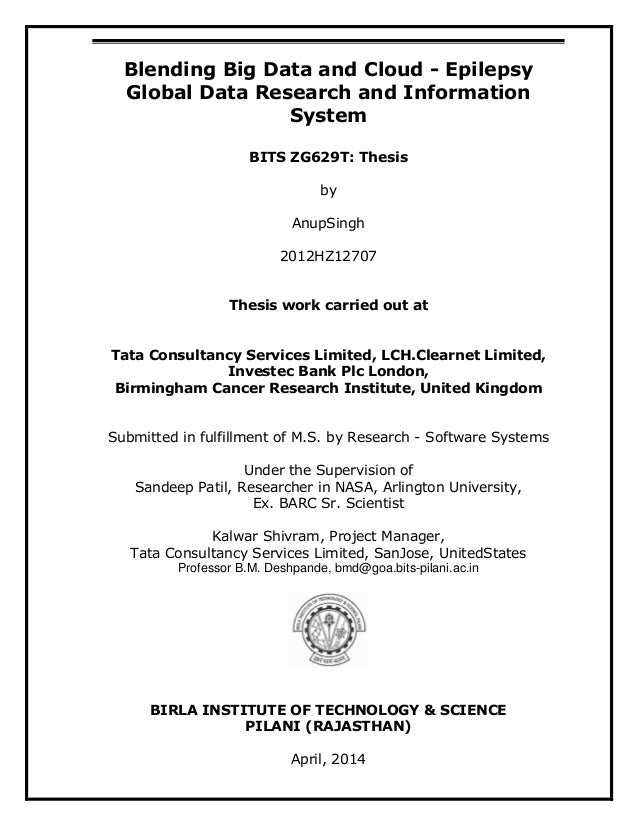 information systems thesis