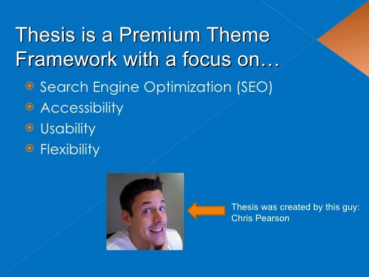 thesis search engine optimization
