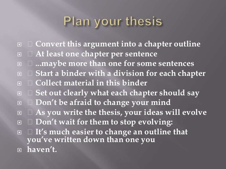 Thesis point