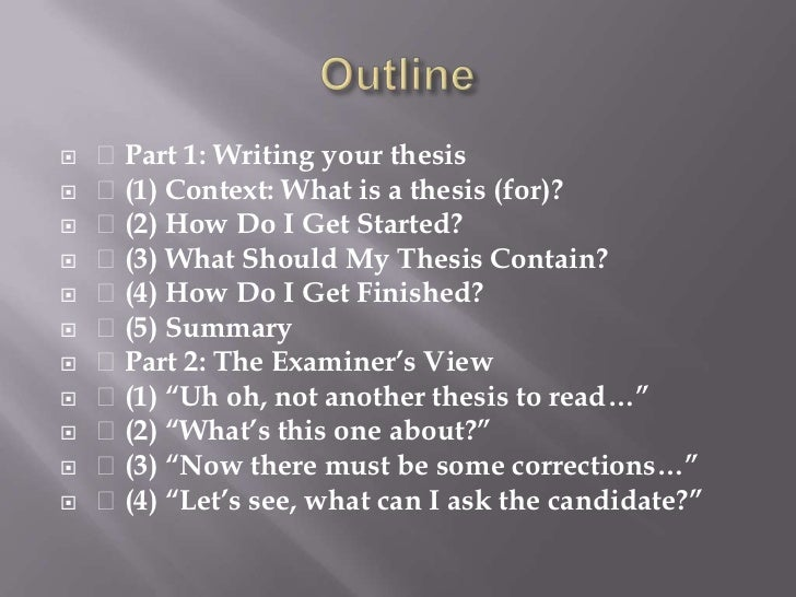 Write Phd Thesis Summary