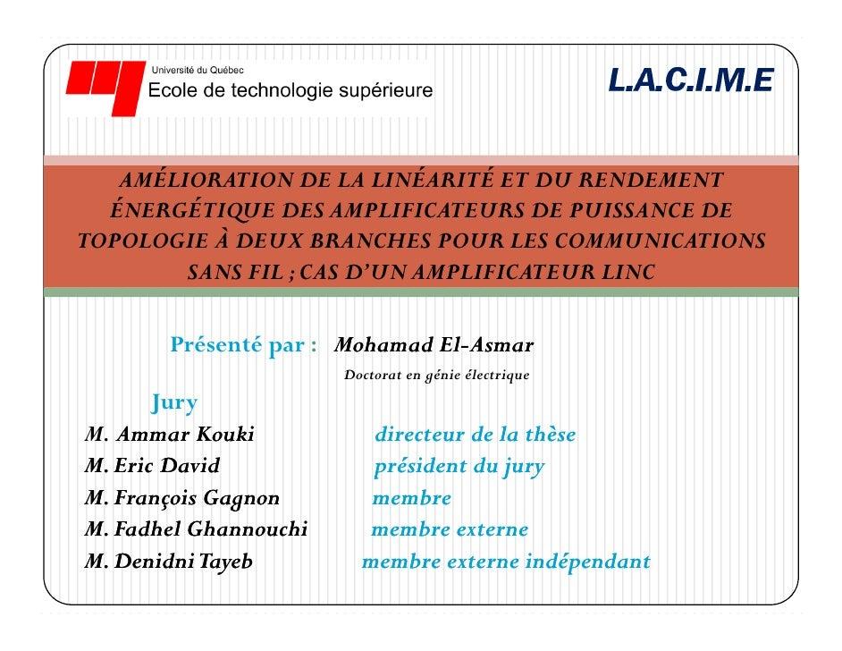 AMÉLIORATION DE LA LINÉARITÉ ET DU RENDEMENT   ÉNERGÉTIQUE DES AMPLIFICATEURS DE PUISSANCE DE TOPOLOGIE À DEUX BRANCHES PO...