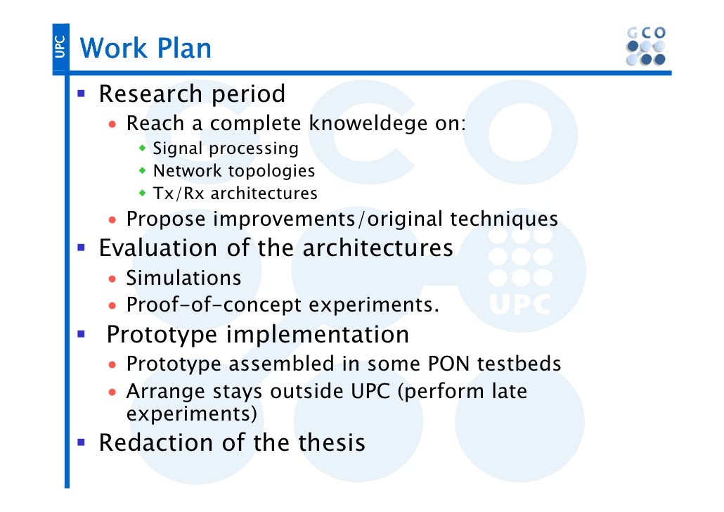 phd thesis work plan