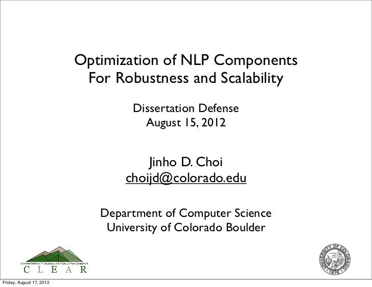 Optimization of NLP Components                           For Robustness and Scalability                                  D...