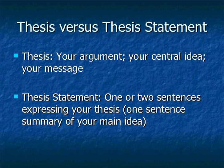 What is a thesis statement in academic writing