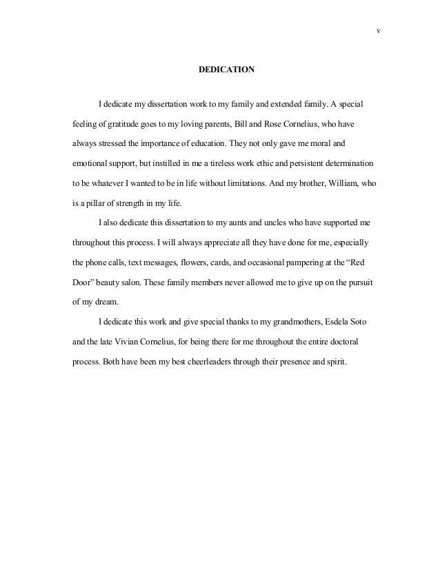 Dissertation dedication to my family