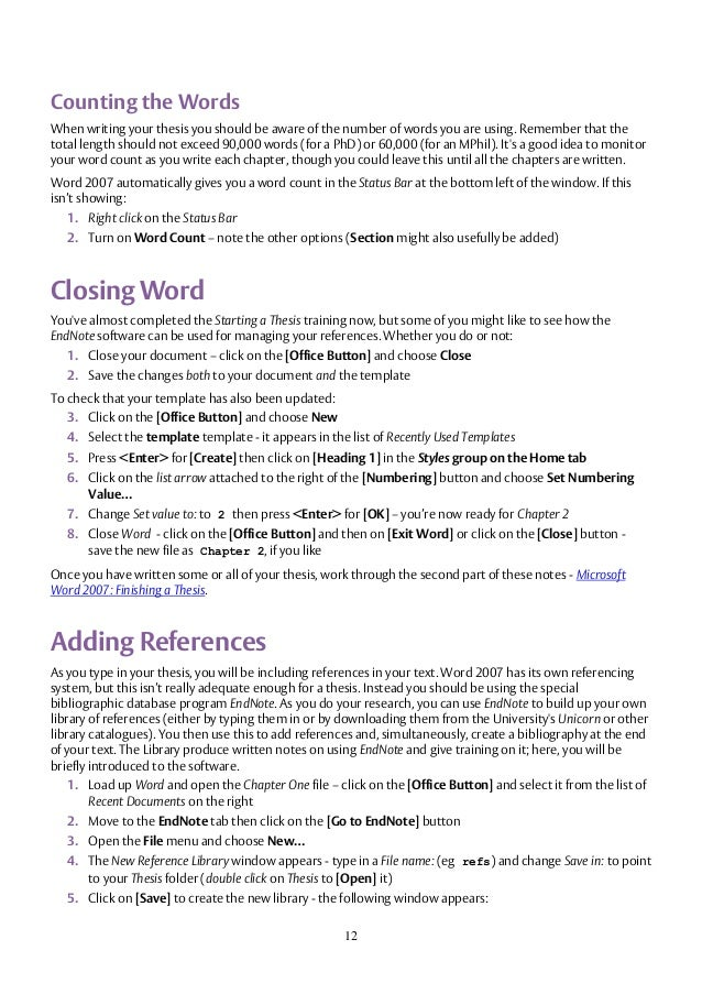 writing thesis in word How to enjoy writing a thesis: what students should know about thesis and dissertation planning and what techniques could be implemented to make writing easier.