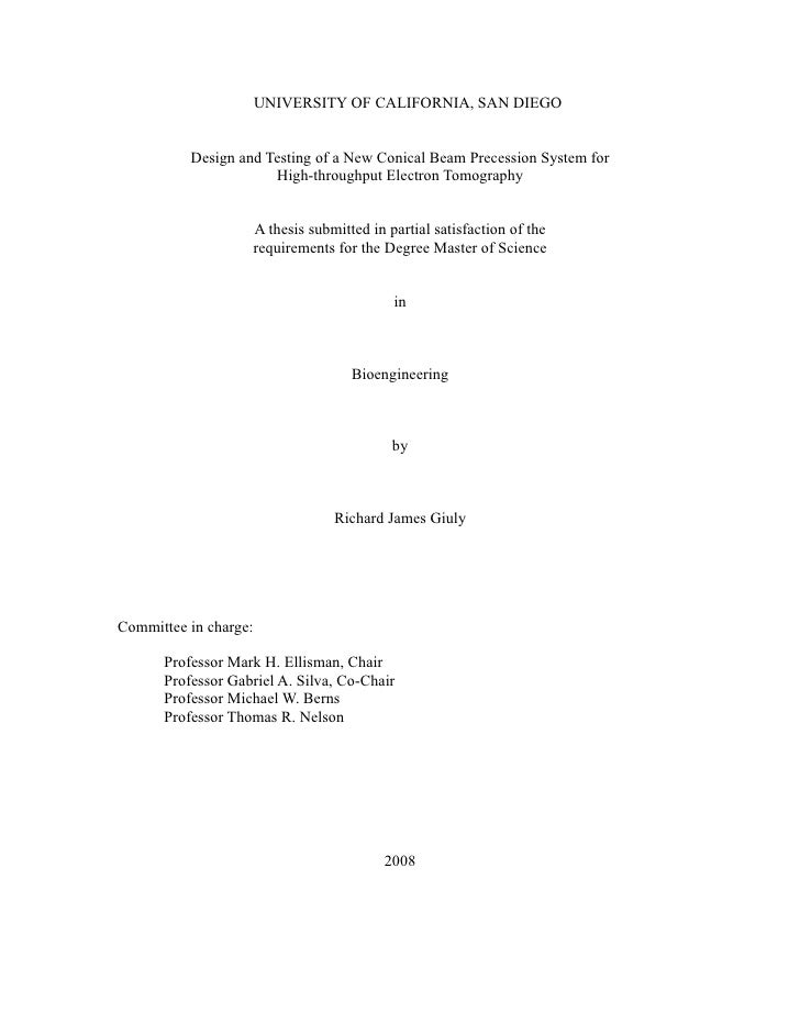 Masters Thesis: Design and Testing of a New Conical Beam Precession System for High-throughput Electron Tomography