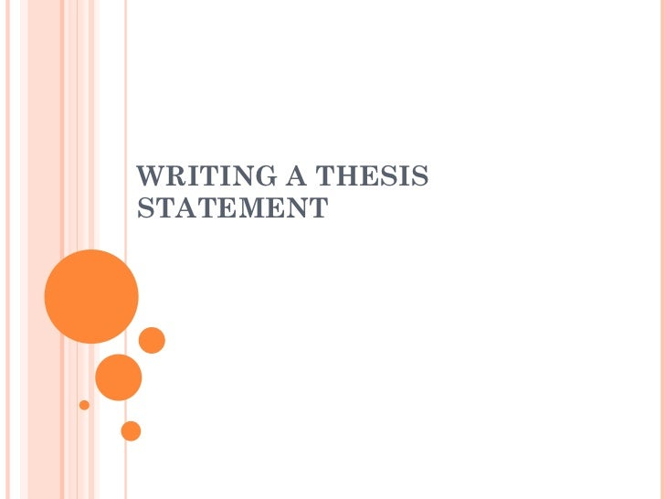 Writing A Thesis Pdf