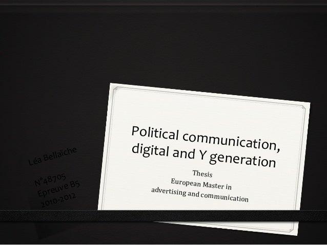 Digital communication master thesis