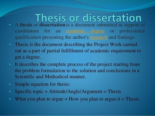 Dissertation thesis com