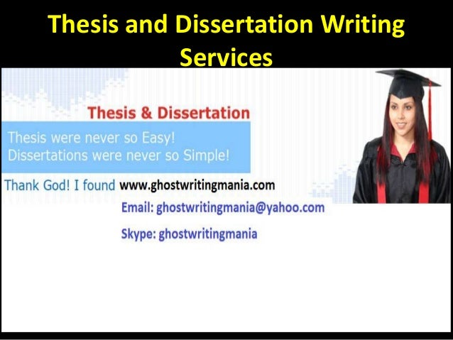 Dissertation writing services in pakistan