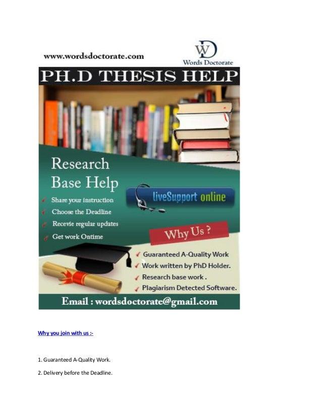 Dissertation writing services usa work