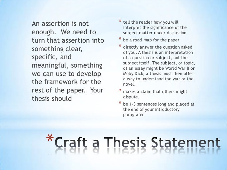 3 thesis statements