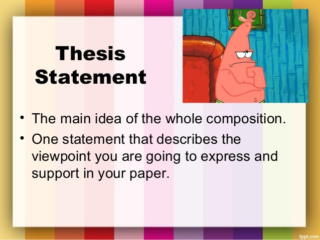 Thesis statement for maintaining a relationship?